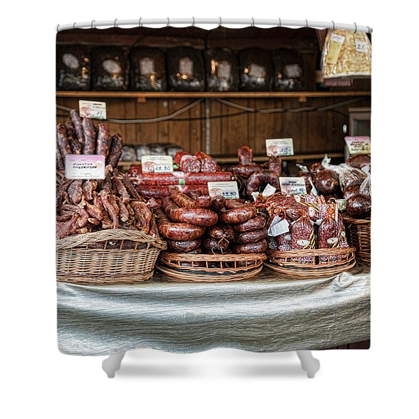 Poland Meat Market Shower Curtain