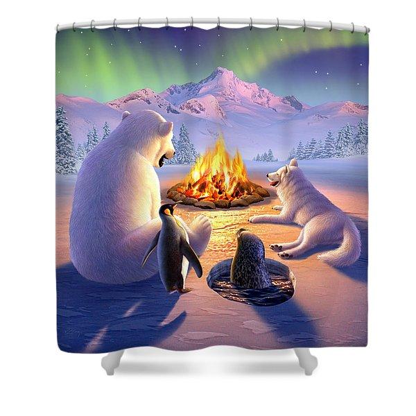 Polar Pals Shower Curtain