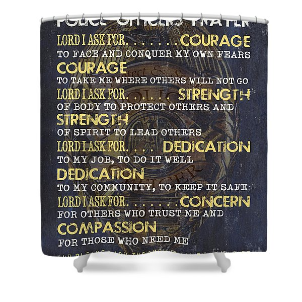 Police Officers Prayer Shower Curtain