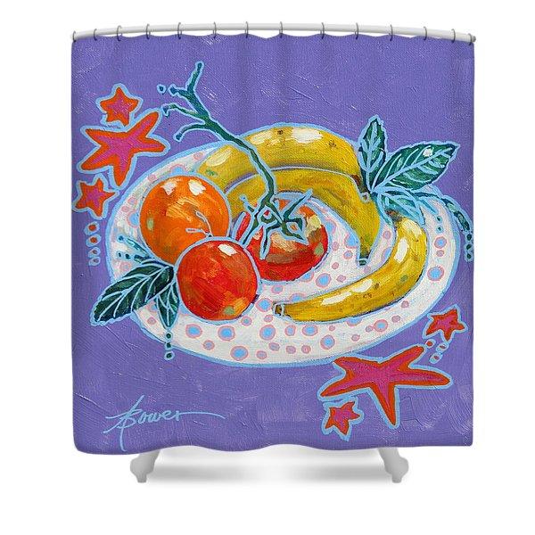 Polka-dot Plate  Shower Curtain