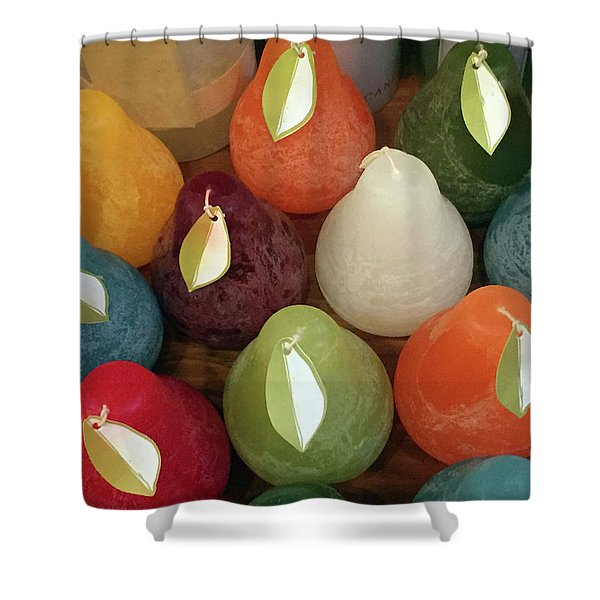 Polychromatic Pears Shower Curtain