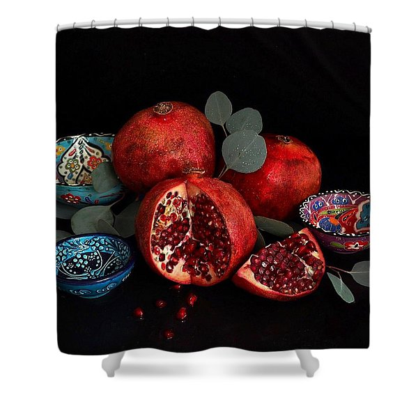 Pomegranate Power Shower Curtain