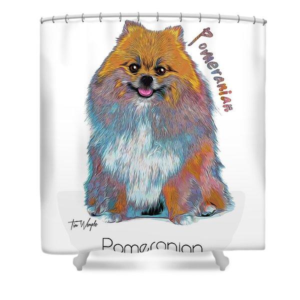 Pomeranian Pop Art Shower Curtain