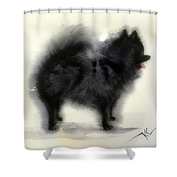 Pometanian Dog3 Shower Curtain