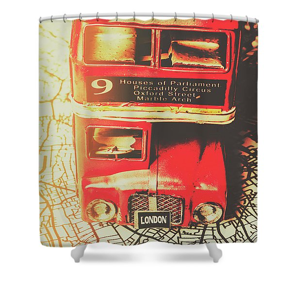 Pommy Promenade Shower Curtain