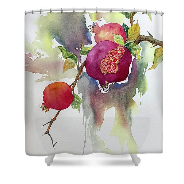 Pomegranates Shower Curtain