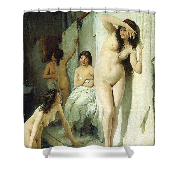 Pompeian Bath Shower Curtain