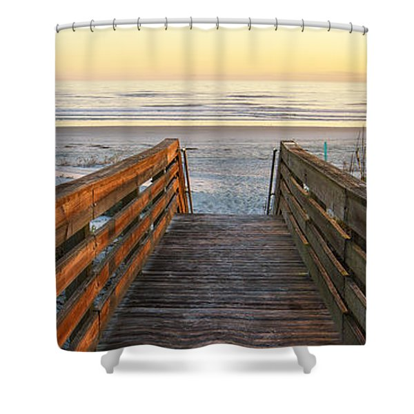 Ponce De Leon Inlet Beach Path Shower Curtain