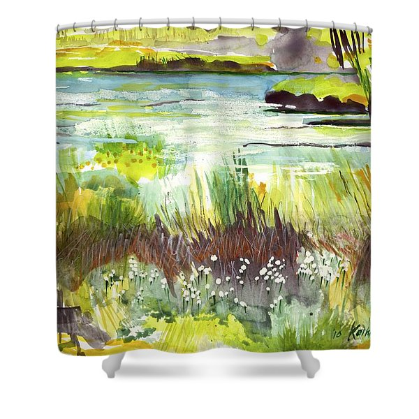 Pond And Plants Shower Curtain