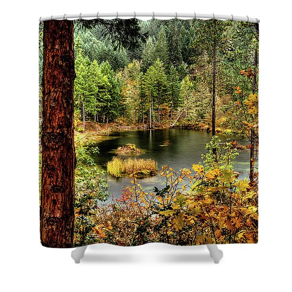 Pond At Golden Or. Shower Curtain