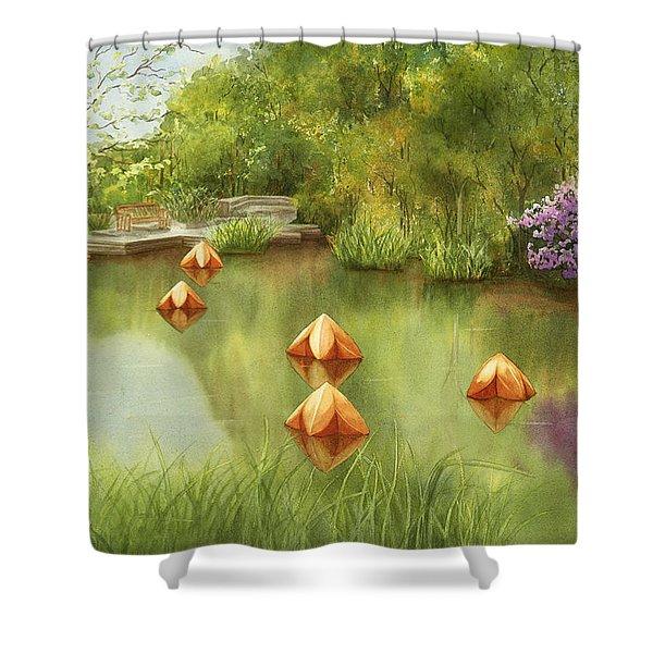 Pond At Olbrich Botanical Garden Shower Curtain