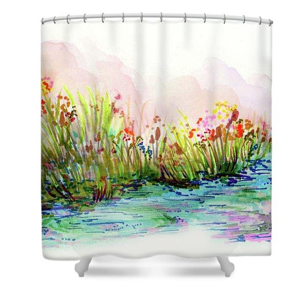 Sunrise Pond Shower Curtain