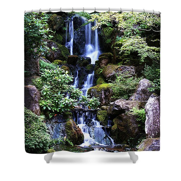 Pond Waterfall Shower Curtain