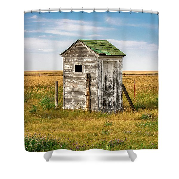 Pendroy Outhouse Shower Curtain