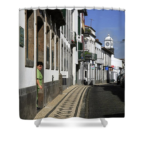 Ponta Delgada, Azores Islands Shower Curtain