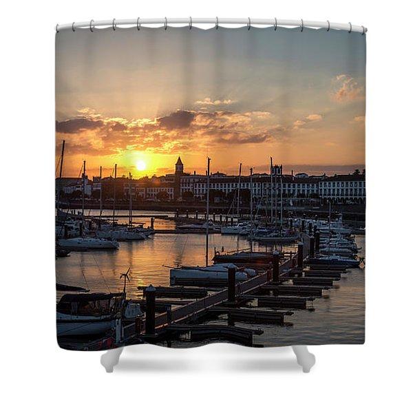 Ponta Delgada Sunset Shower Curtain