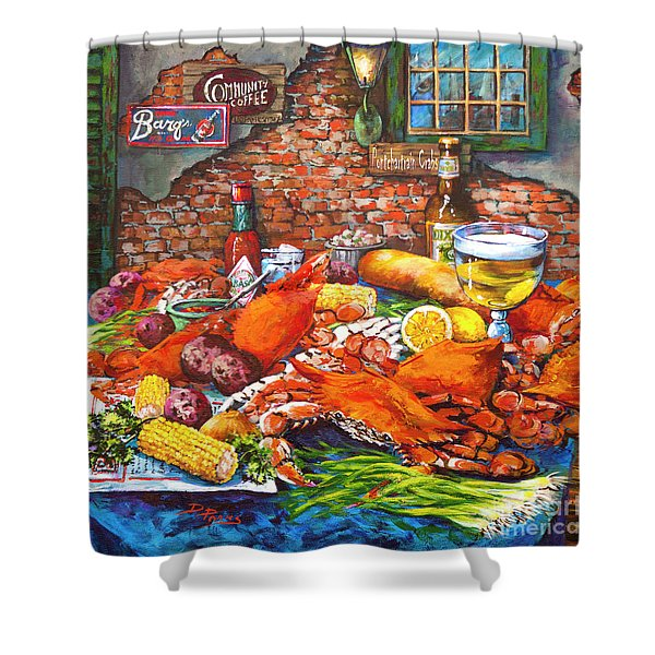 Pontchartrain Crabs Shower Curtain