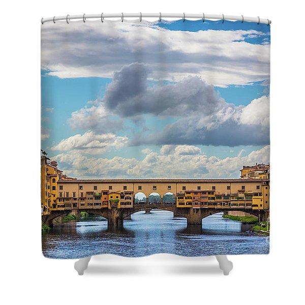 Ponte Vecchio Clouds Shower Curtain