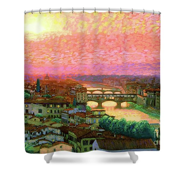 Ponte Vecchio Sunset Florence Shower Curtain