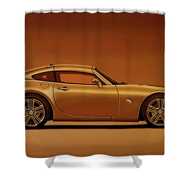 Pontiac Solstice Coupe 2009 Painting Shower Curtain