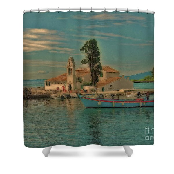 Pontikonisi Corfu Shower Curtain