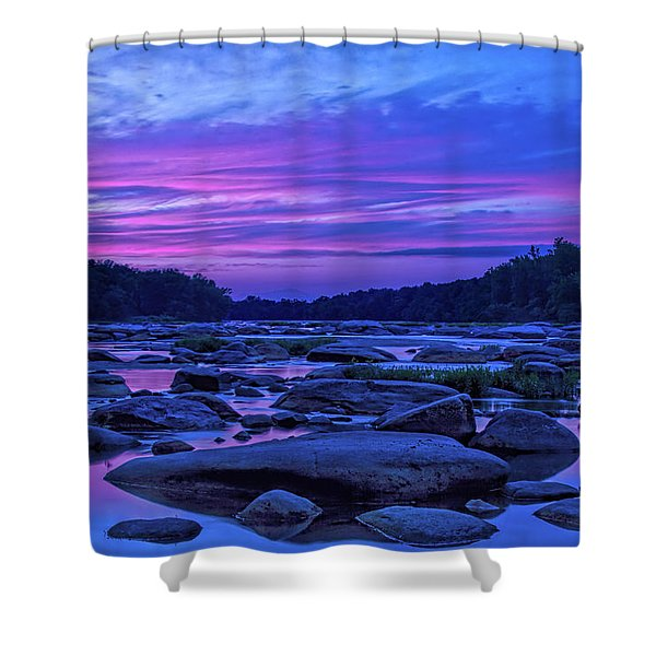 Shower Curtain featuring the photograph Pony Pasture Sunset by Jemmy Archer