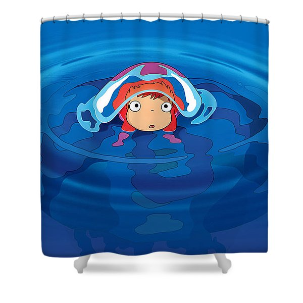 Ponyo Shower Curtain