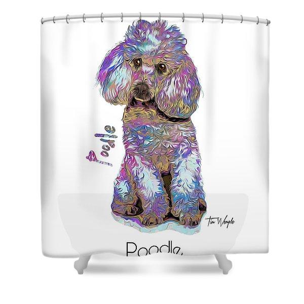 Poodle Pop Art Shower Curtain