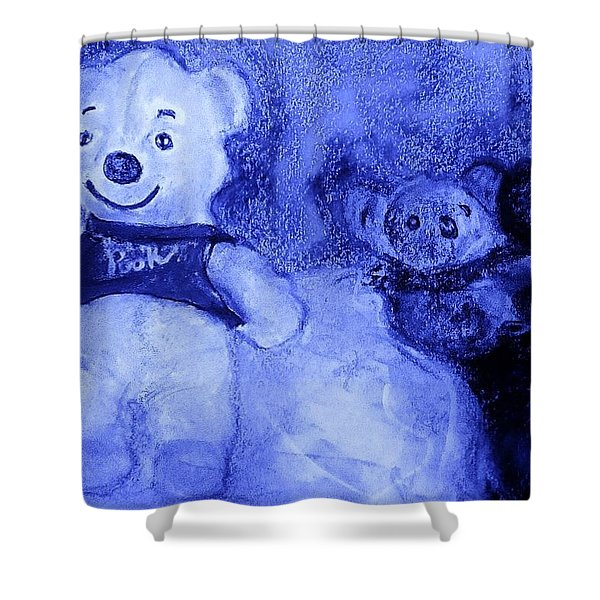 Pooh Bear And Friends Shower Curtain