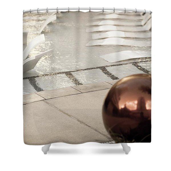 Pool Ball Shower Curtain