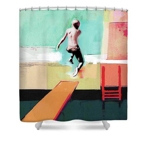 Pool Day Shower Curtain