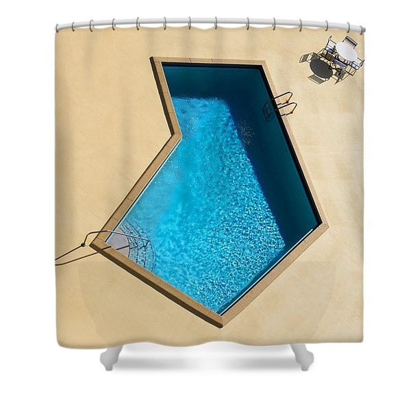 Pool Modern Shower Curtain