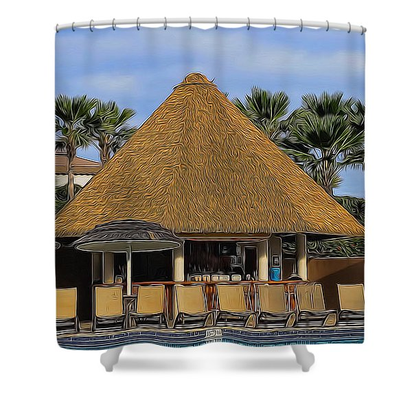 Poolside Drinks Shower Curtain