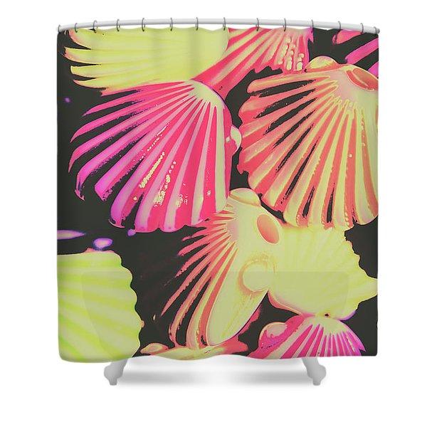 Pop Art From Fluorescent Beach Shower Curtain