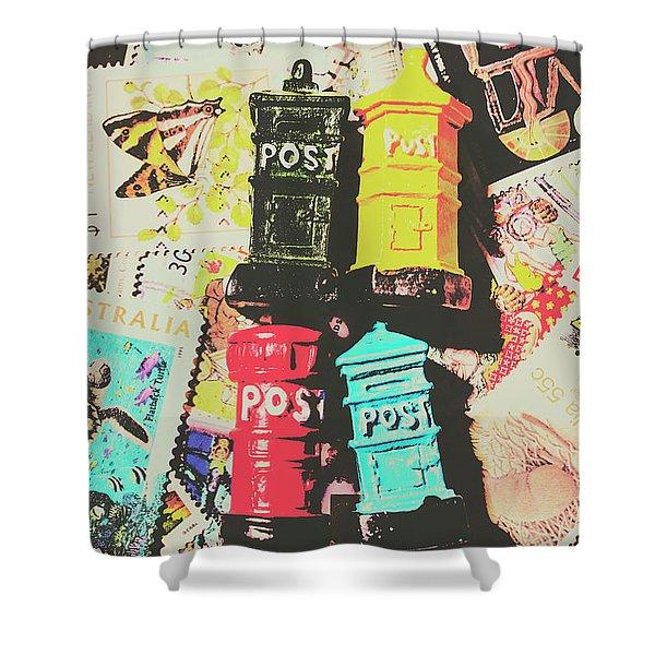 Pop Art In Post Shower Curtain