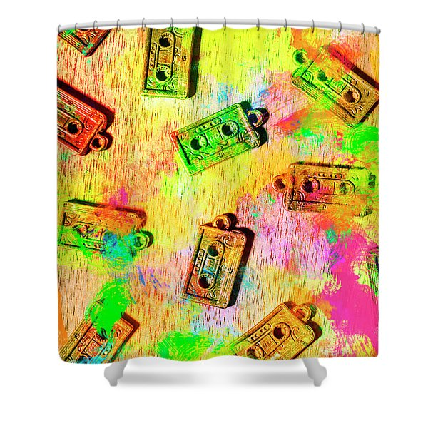 Pop Art Mix Tapes Shower Curtain