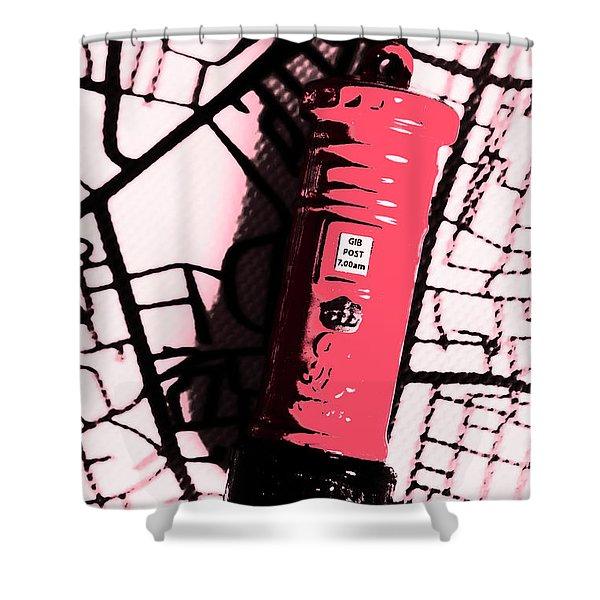 Pop Art Pillar Post Box Shower Curtain