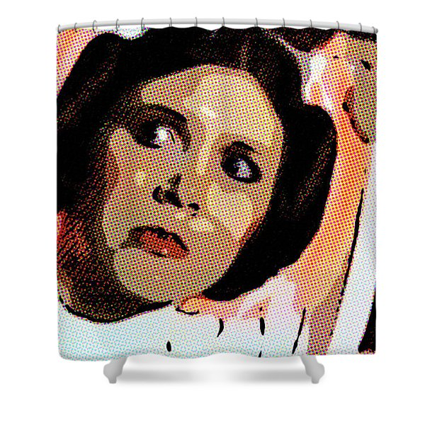 Pop Art Princess Leia Organa Shower Curtain