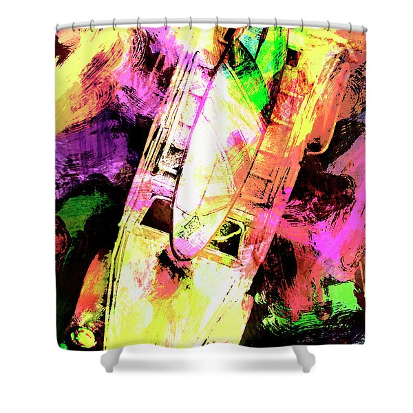 Pop Art Surf Cars And Painted Waves Shower Curtain