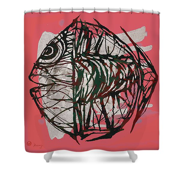 Pop Art - Tropical Fish Poster Shower Curtain