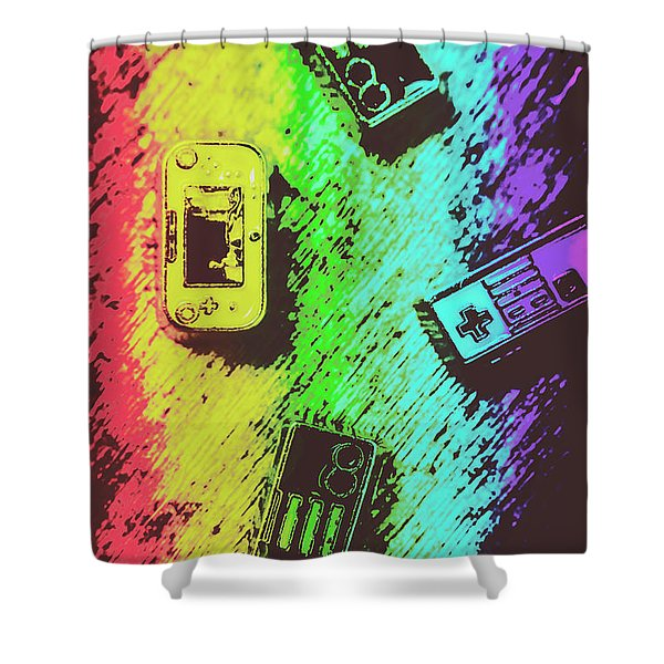 Pop Art Video Games Shower Curtain
