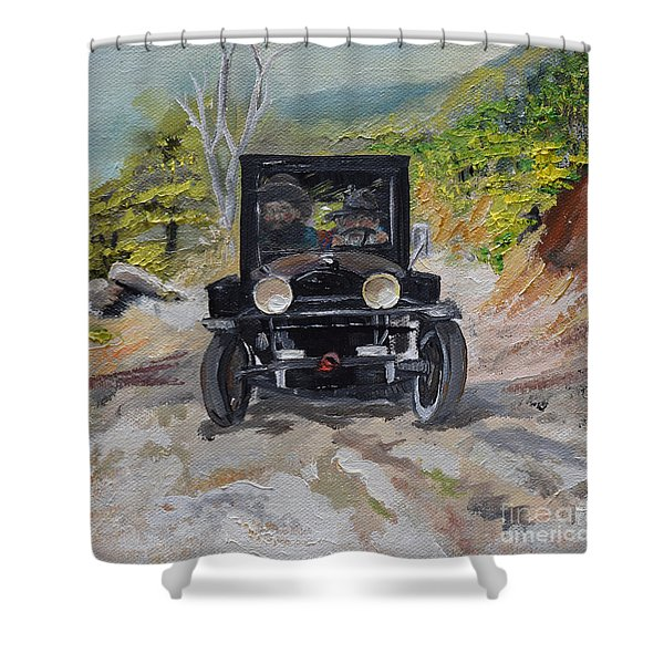 Popcorn Sutton - Looking For Likker Shower Curtain