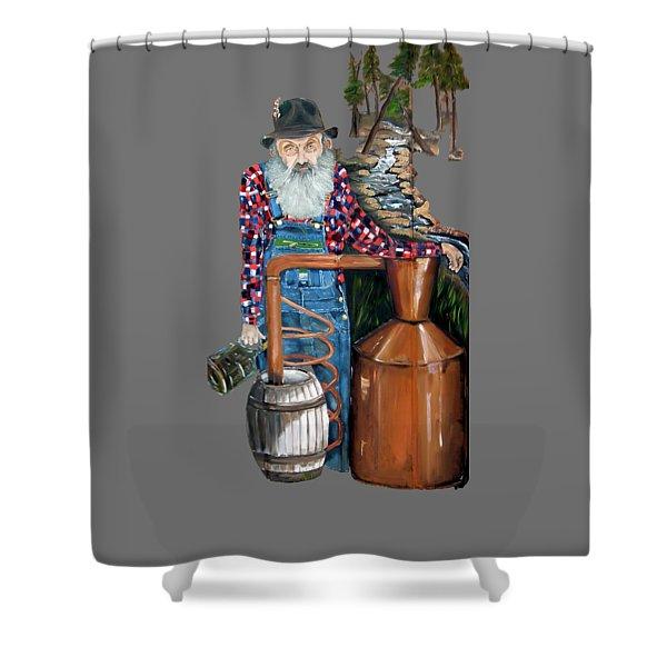 Popcorn Sutton Moonshiner -t-shirt Transparrent Shower Curtain
