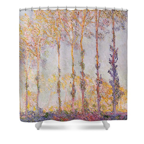 Poplars On The Banks Of The Epte Shower Curtain