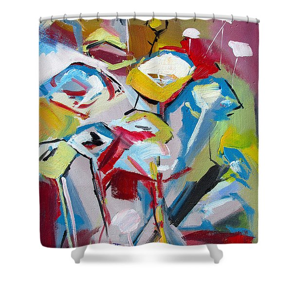 Poppies And Lunch  Shower Curtain