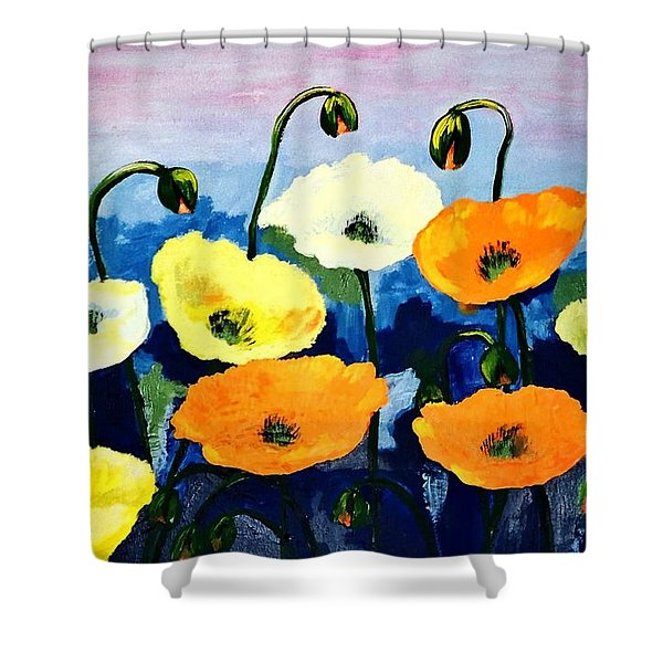 Poppies In Colour Shower Curtain