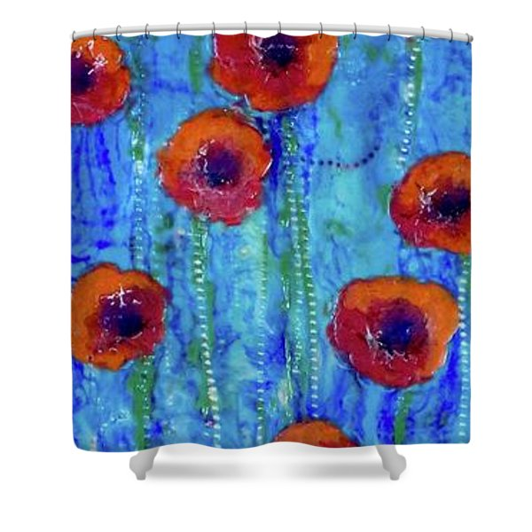 Poppy Dance Shower Curtain