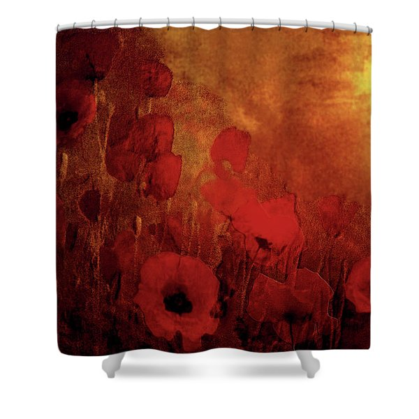 Poppy Heaven Shower Curtain