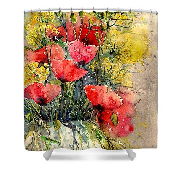 Poppy Impression Shower Curtain
