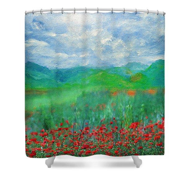 Poppy Meadows Shower Curtain